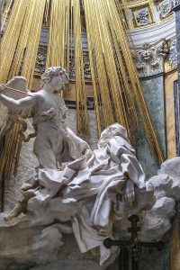 Extasy of Santa Theresia by Bernini. Santa Maria delle Vittorio church, Rome