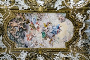 Ceiling paintings in the Santa Maria delle Vittorio church, Rome