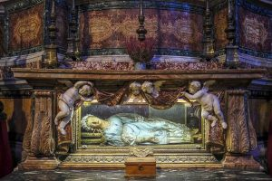 Wax-enhanced skeletal remains of Santa Vittoria, Rome