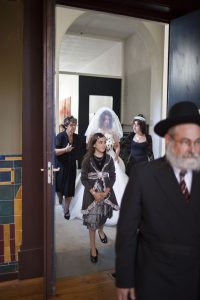 Traditional Jewish wedding in the synagogue of Groningen