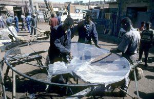 Medebar recycling market in Asmara, Eritrea