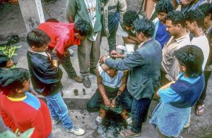 Buddhist Cremation Ceremony in Darjeeling, India.