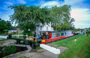 Narrowboats in England